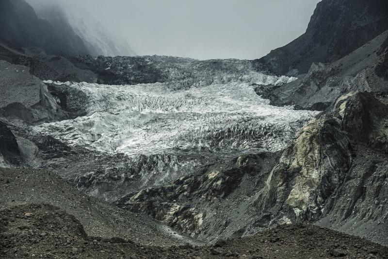 Passu lodowiec, Pakistan obraz royalty free