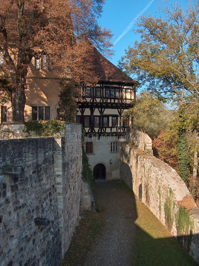 Passway exterior, monastério Bebenhausen, Alemanha imagens de stock