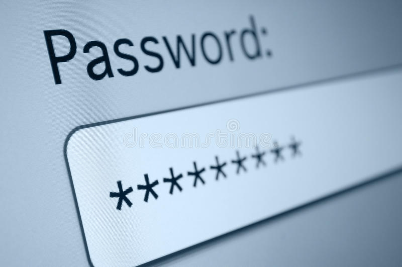 Password stock images