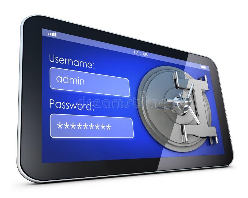 password illustration stock