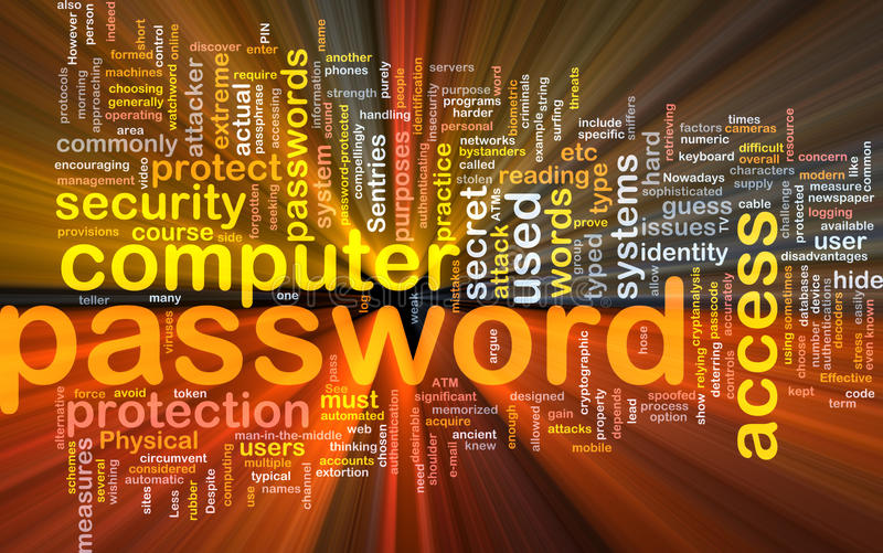Password Background Concept Glowing Royalty Free Stock Images