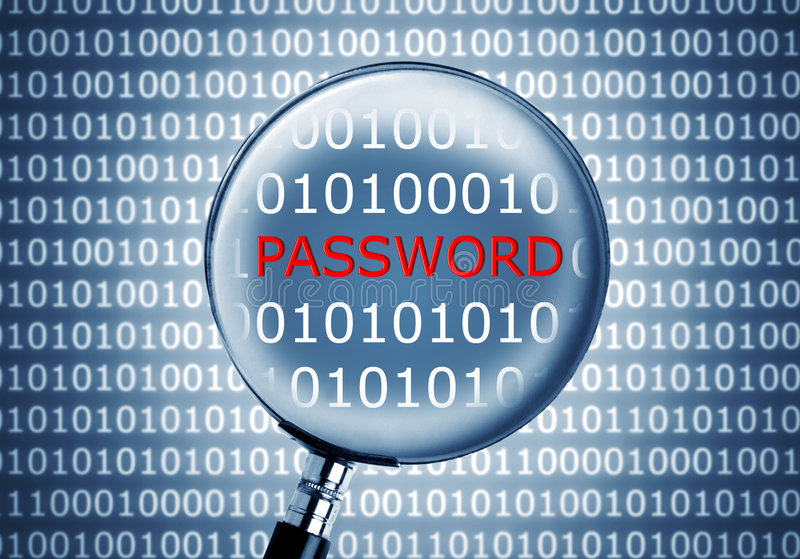 Password in a binary code. Picture of a password in a binary code vector illustration