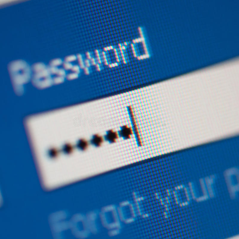 Password close up royalty free stock photography