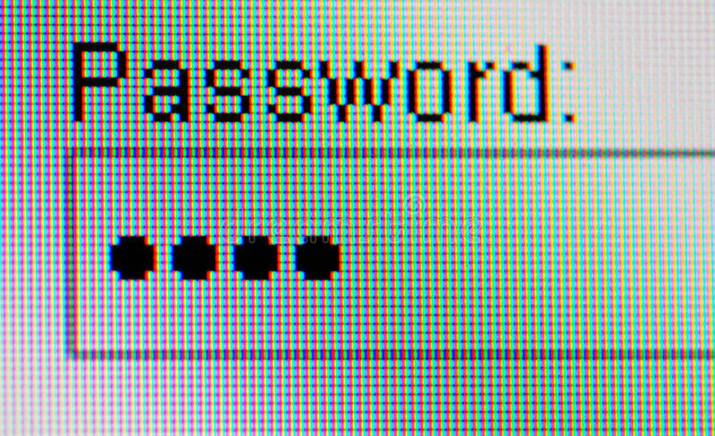 Download Password On Computer Screen Stock Image - Image of website, shoping: 27115837