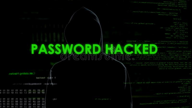 Password hacked to crack email, security of correspondence, leakage of data. Stock photo stock images