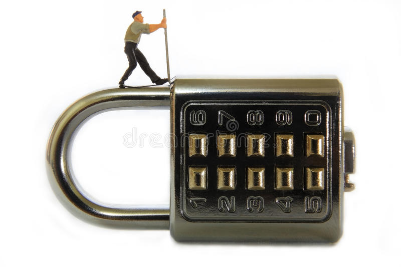 Password Lock stock photo