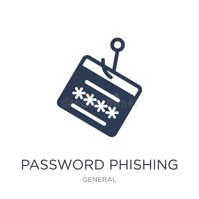 password phishing icon. Trendy flat vector password phishing icon on white background from General collection vector illustration