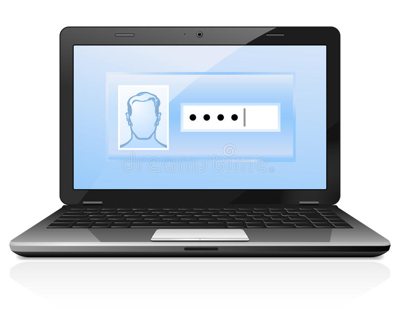 Download Password protected stock vector. Illustration of computer - 23743447