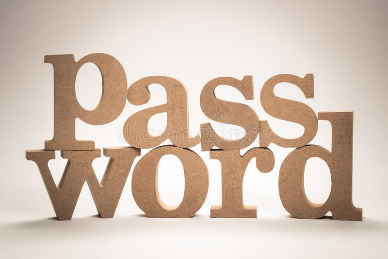 Password Wood Word royalty free stock image