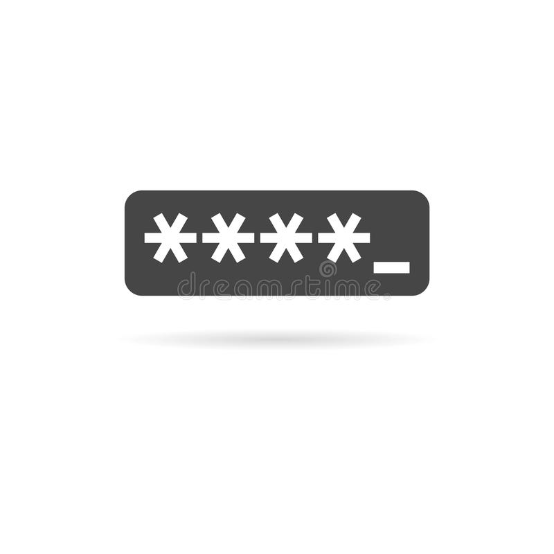 Password typing icon vector illustration
