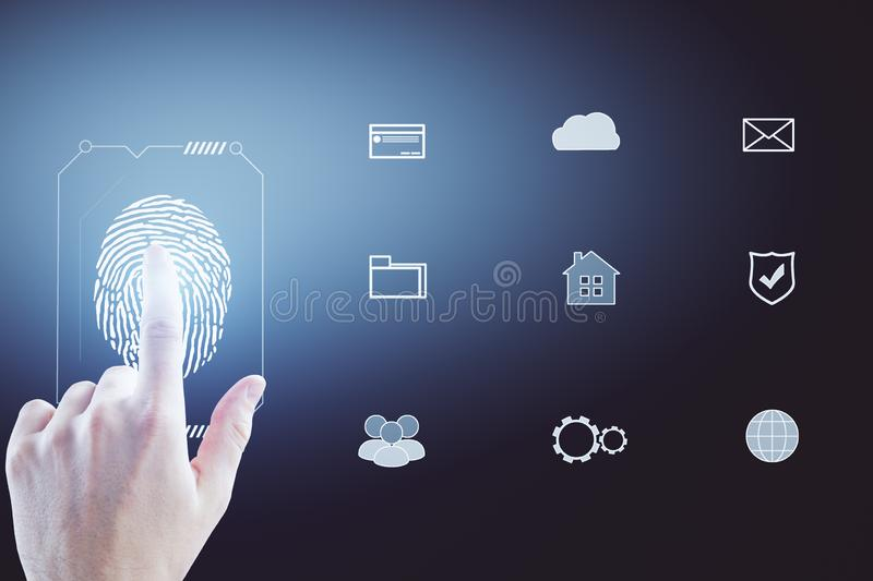 Password and verification concept stock image