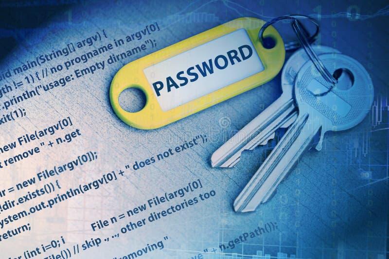 Passwortcode lizenzfreie stockbilder