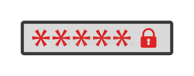 Passwortzeichen lizenzfreie abbildung