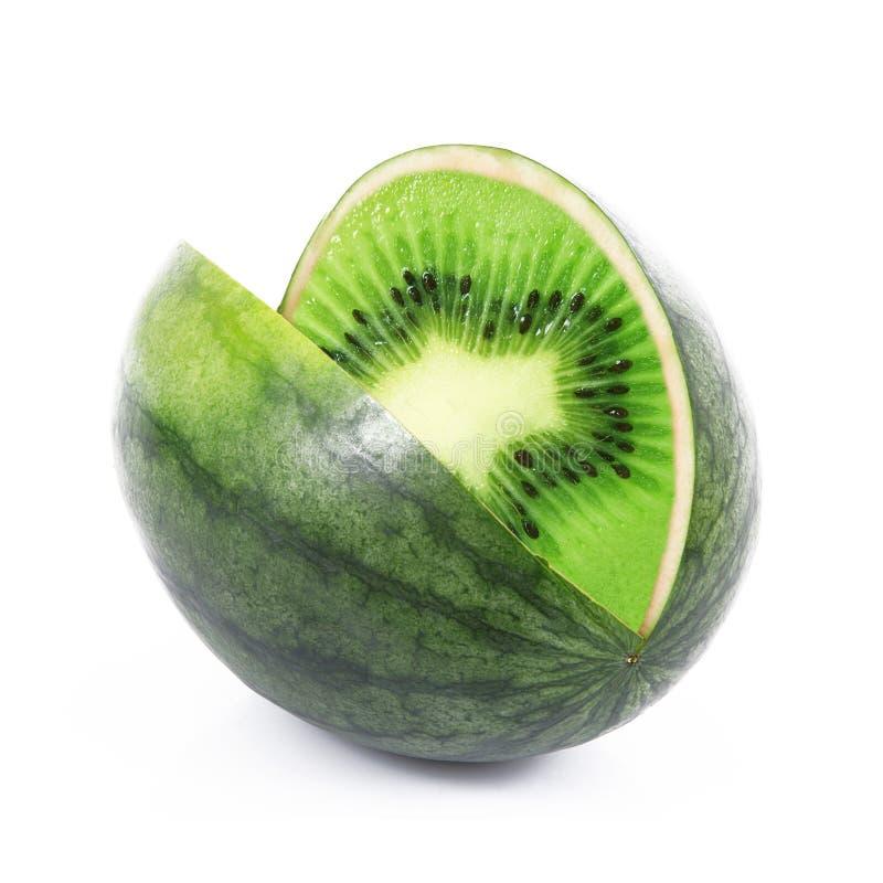 Pastèque-kiwi de fruit d'Ibrid photo stock