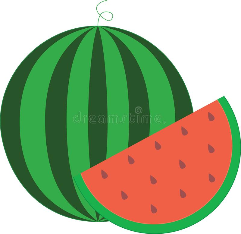 pastèque un aliment dense nutritif illustration libre de droits
