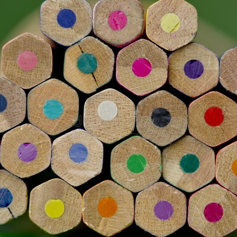 Pastéis coloridos do lápis, de volta ao conceito da escola fotos de stock royalty free