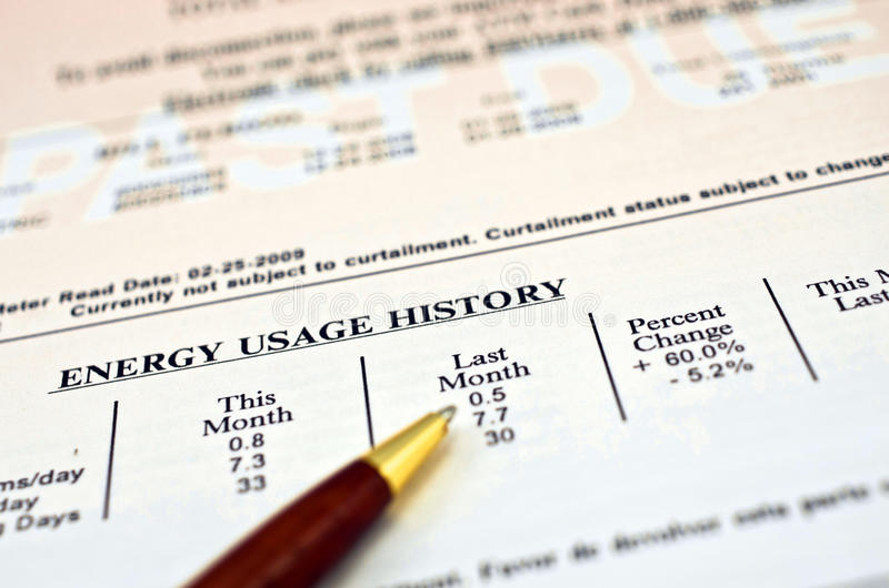 Download Past Due Bill stock photo. Image of past, energy, utility - 17920000