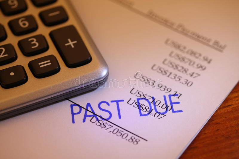 Past due payment royalty free stock photos