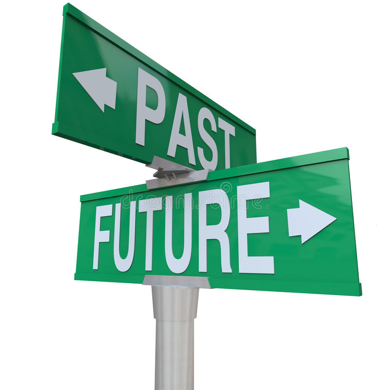 Download Past And Future - Two-Way Street Sign Stock Illustration - Image: 15025544