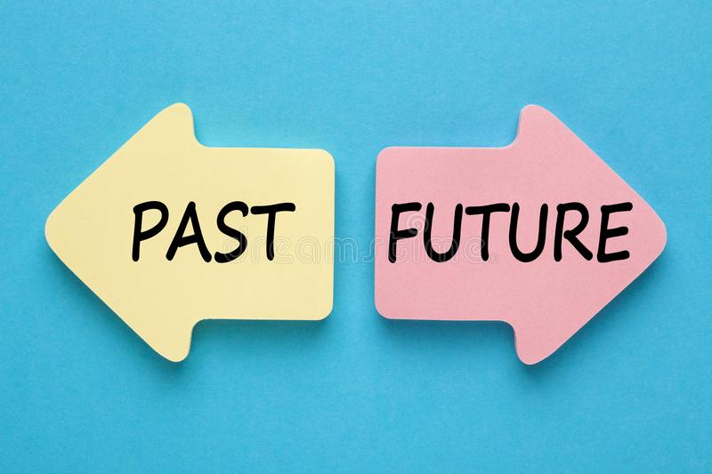 Past and Future Concept royalty free stock photography
