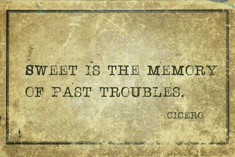 Past kłopoty Cicero zdjęcie stock