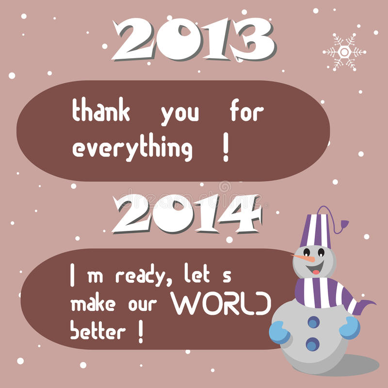 Download Past and New Year wishes stock vector. Image of funny - 36411127