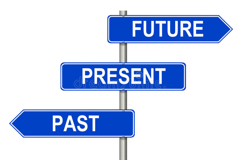 Past Present Future sign stock illustration. Illustration ...