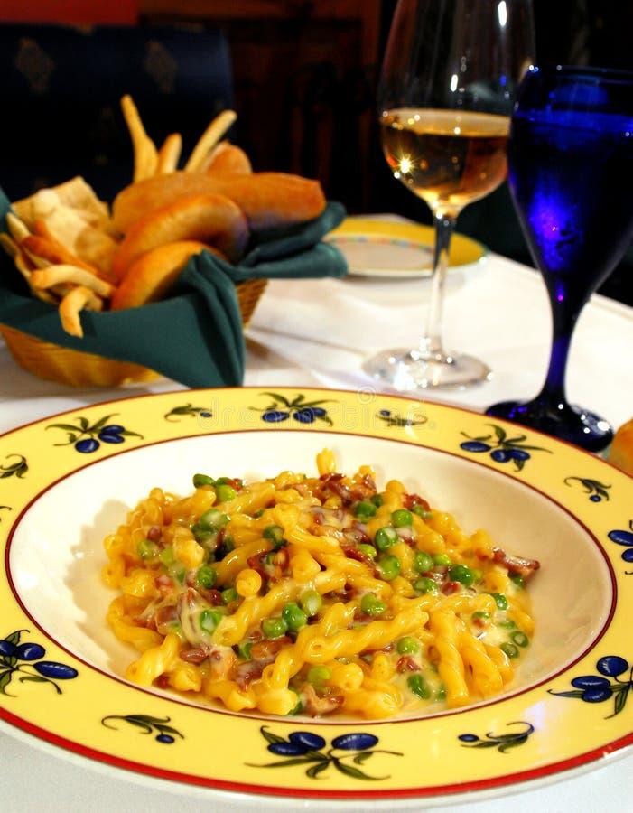 pastaärta för bacon 2 arkivfoto
