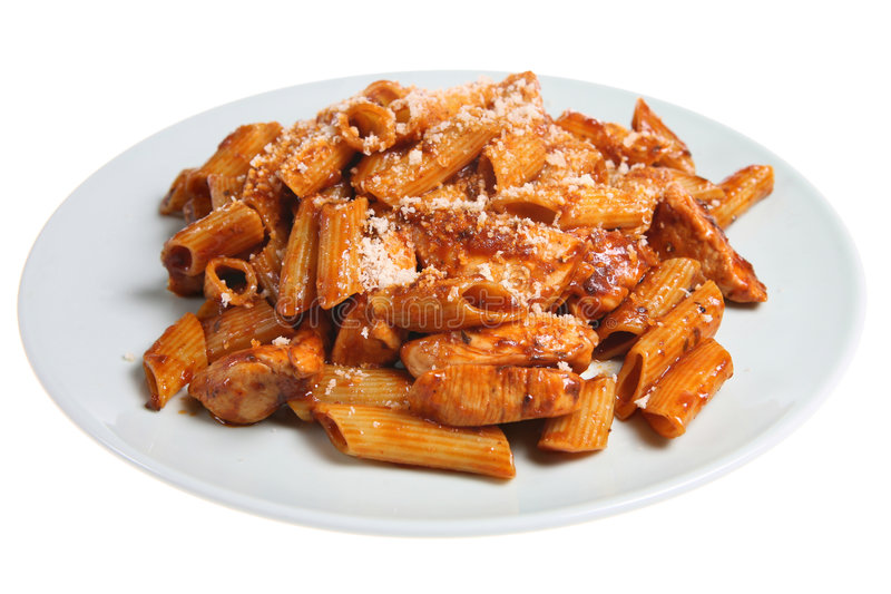Pasta & pollo immagine stock libera da diritti