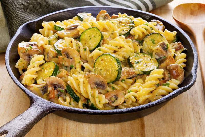 Download Pasta Bake With Mushrooms And Courgettes Stock Photo - Image: 26656842