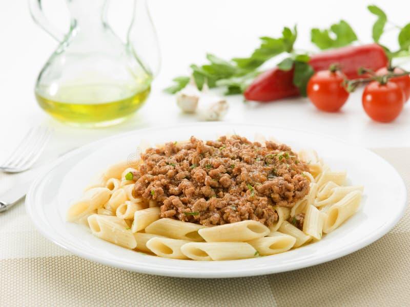 Pasta bolognese. Delicious pasta Bolognese Italian cuisine stock photography