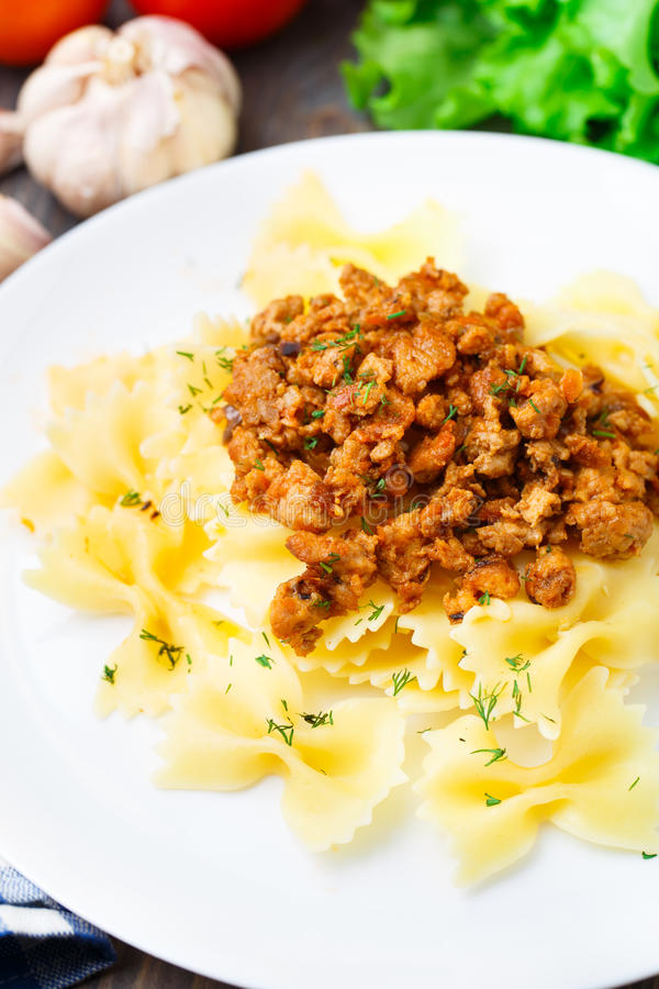 Pasta Bolognese on a plate royalty free stock images