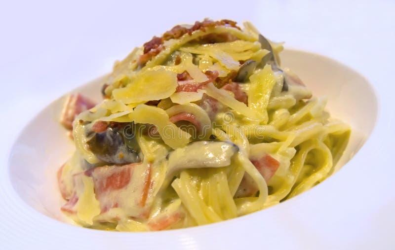 Pasta Cabonara immagini stock
