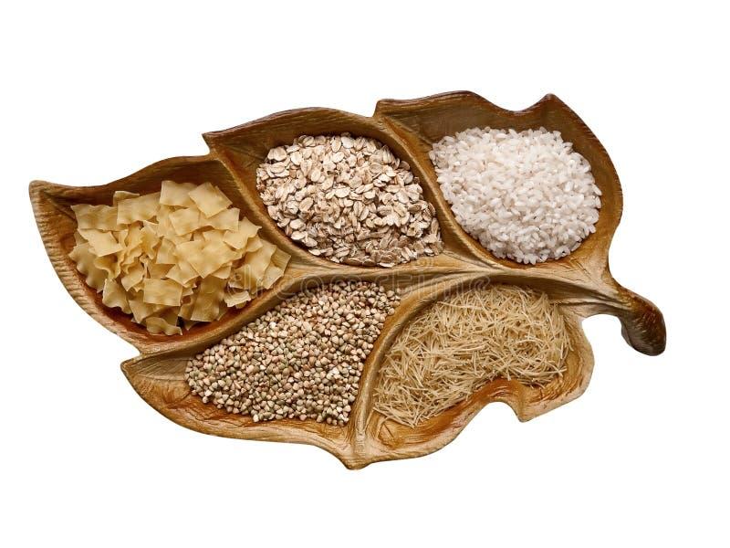 Pasta, cereale, riso immagini stock
