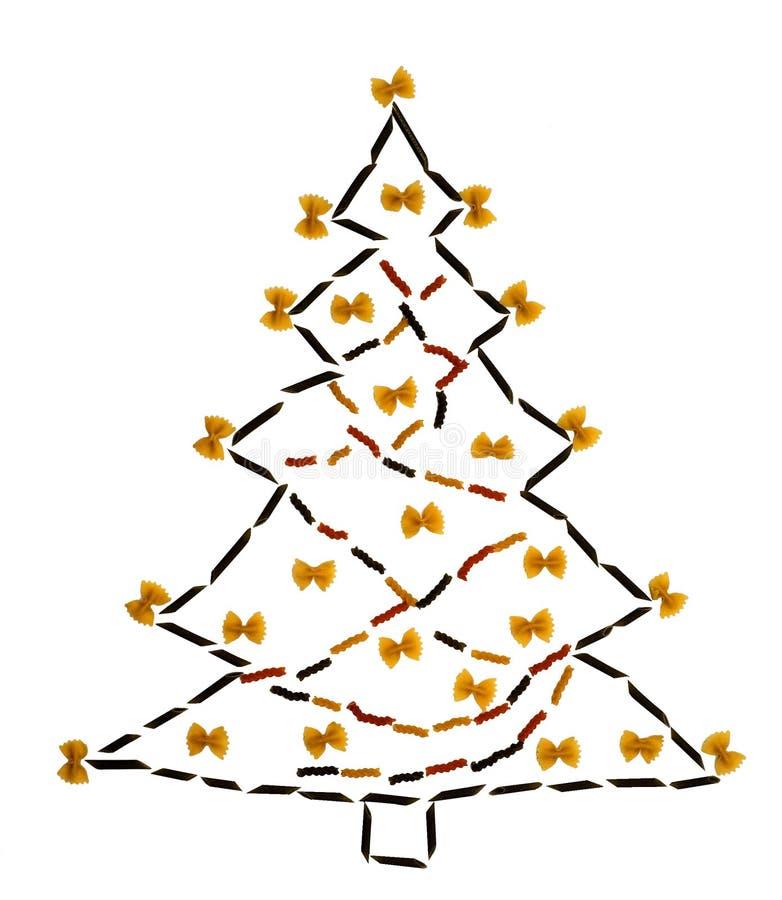 Free Pasta Christmas Tree Royalty Free Stock Image - 50265426