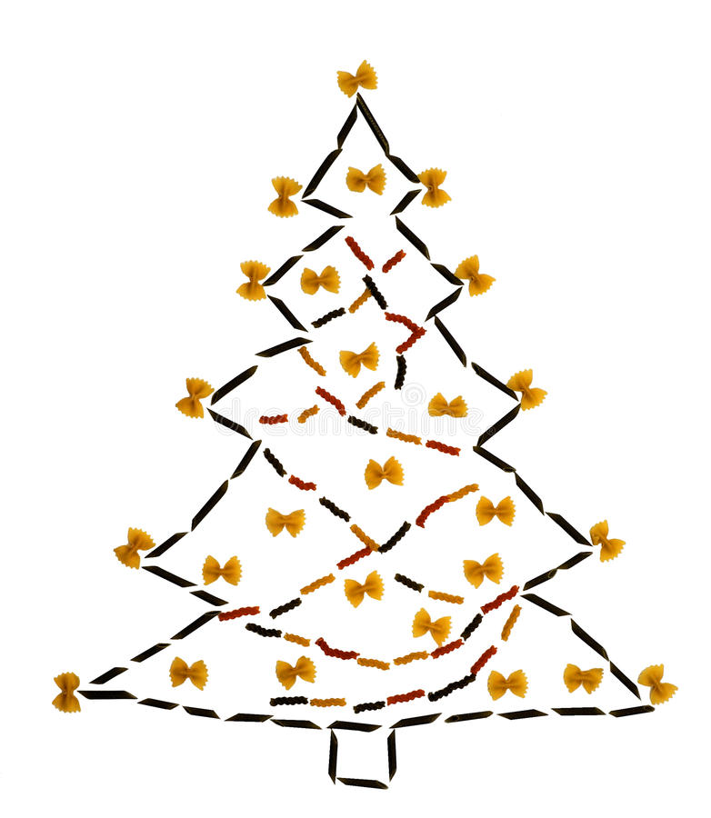 Pasta Christmas tree royalty free stock image