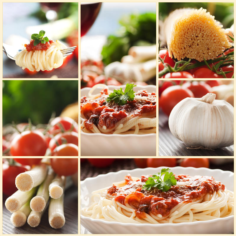 Free Pasta Collage Stock Photography - 18640392