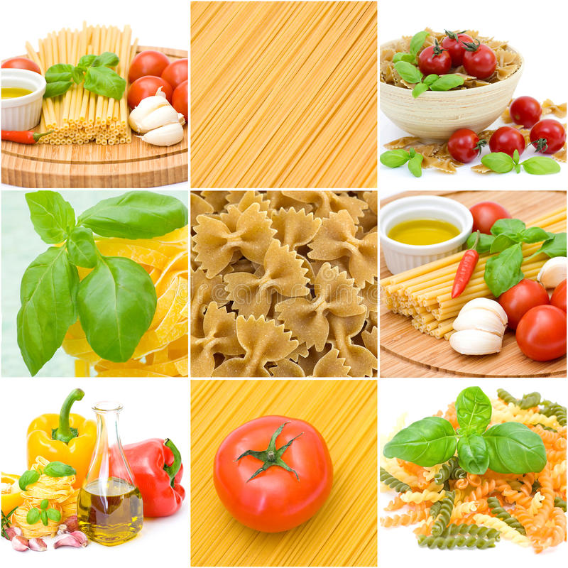 Download Pasta collage stock image. Image of nutrition, food, mediterranean - 20351747
