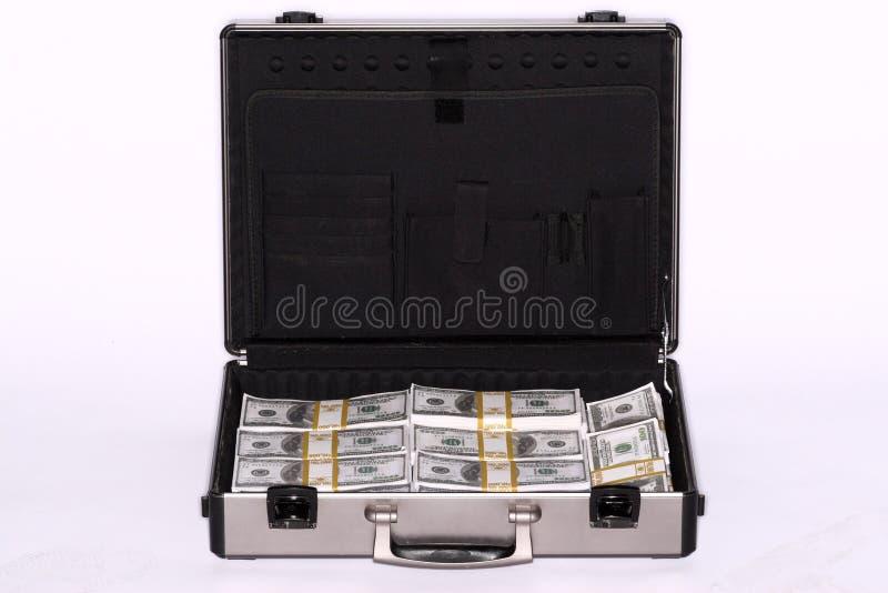 Pasta completamente do dinheiro fotos de stock