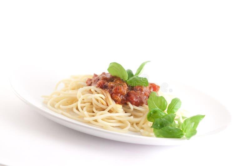 Pasta con la salsa di pomodori immagine stock libera da diritti