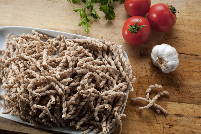 Pasta cruda del grano saraceno fotografia stock libera da diritti