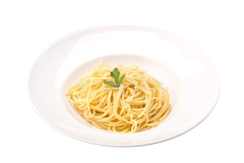 Pasta cucinata degli spaghetti fotografia stock