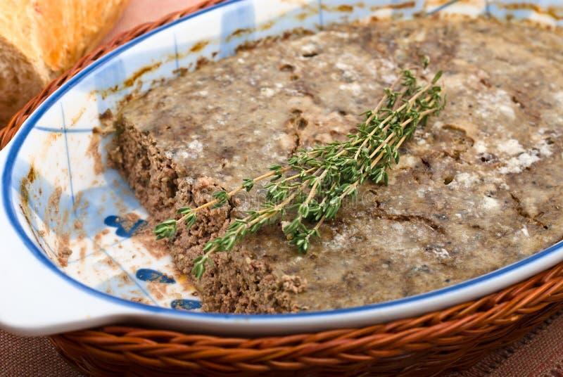 Pasta da galinha com carne e fígado foto de stock