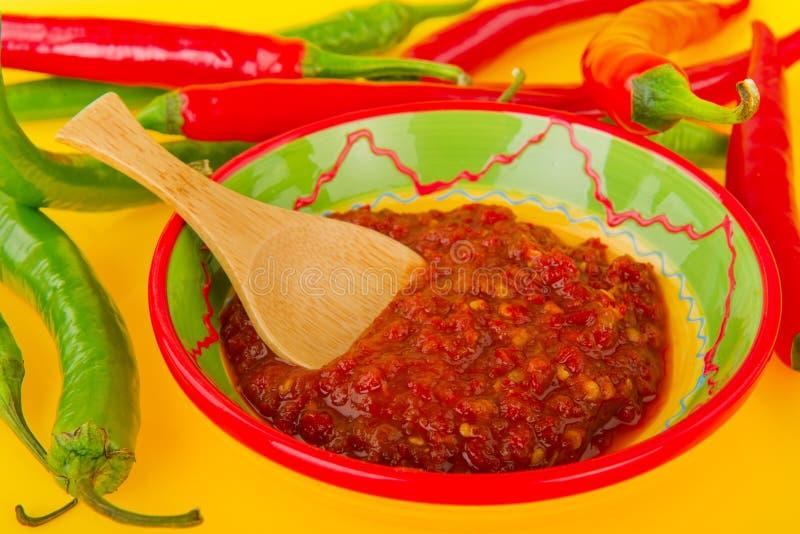 Pasta da pimenta quente fotografia de stock royalty free