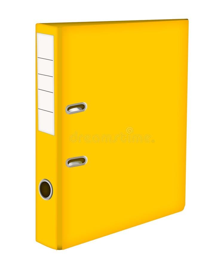 Pasta de arquivos amarela Ring Binders ícone com dobrador amarelo ilustração royalty free