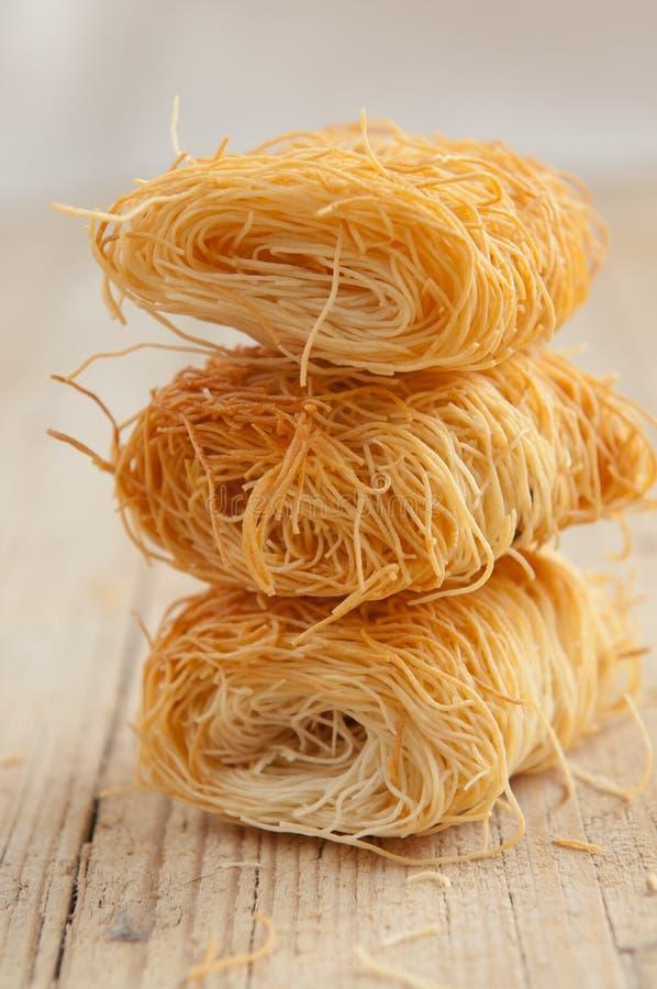 Pasta de Kadaif fotos de archivo