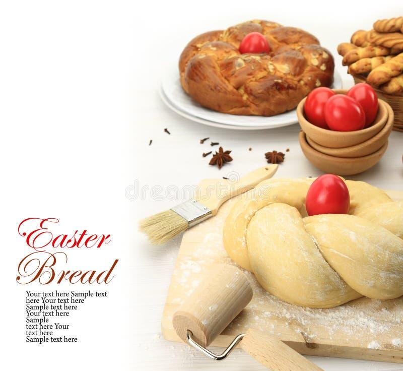 Pasta de pan dulce de Pascua imagen de archivo