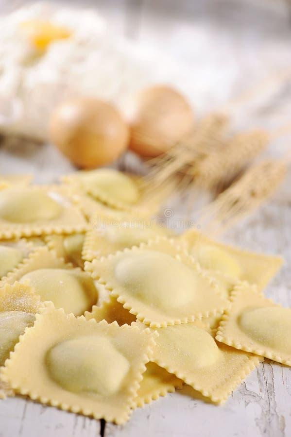 Pasta dei ravioli fotografia stock