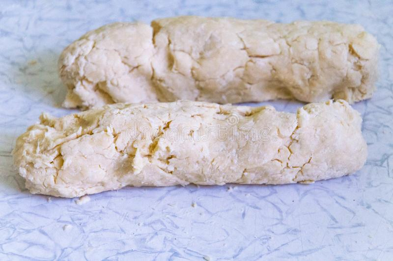 Pasta del dolce della salsiccia per il dolce di millefoglie immagini stock libere da diritti