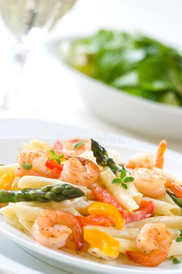 Download Pasta del gambero immagine stock. Immagine di salsa, pasta - 7312785